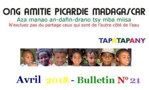 Bulletin 21 Avril 2018